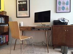 IN STOCK Mid Century Desk with Drawer Solid Wood by OrWaDesigns