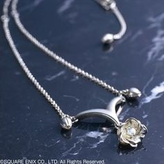 NEW Final Fantasy X Yuna/'s Pendant Blue Magic Crystal Necklace With Ring SET