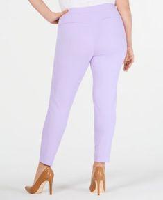 15fa0a19bd5 Calvin Klein Plus Size Scuba Crepe Pants - Purple 24W