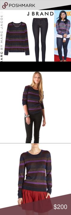 Marc By Marc Jacobs Metallic Striped Sweater Marc By Marc Jacobs Metallic Striped Sweater.  As seen on Mindy Kaling and other Hollywood celebrities, this sweater is a must in any wardrobe. Marc By Marc Jacobs Sweaters Crew & Scoop Necks