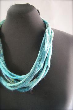 Blue Nuno corded necklace a SugarPlum by sugarplumoriginals, $125.00