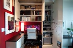 corner study space with loads of storages