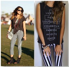 striped pants Printed Leggings Outfit, Autumn Winter Fashion, Fall Winter, Stripe Pants, Dress Me Up, Ideias Fashion, Swag, Outfit Ideas, Skinny