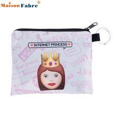 High Quality fashionable printing coins change purse Clutch zipper zero wallet phone key bags