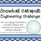 Snowball Catapult: Engineering Challenge Project ~ Great Stem Activity