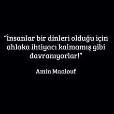 Amin Maalouf - Din/Ahlak