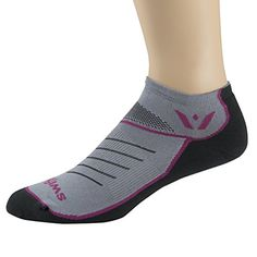 Swiftwick Zero Vibe Pewter Socks Medium PinkGray >>> You can get more details by clicking on the image.
