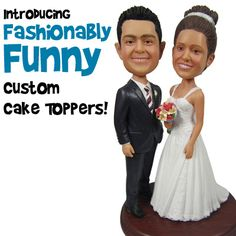 Funny & Comical Custom Wedding Cake Toppers