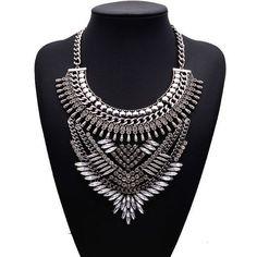 8,05€ - Big Brand Maxi Summer New Statement Good Quality Multi layer Gem Vintage New Design Choker Collar Jewelry B4213 - Best Lady Jewelry Store