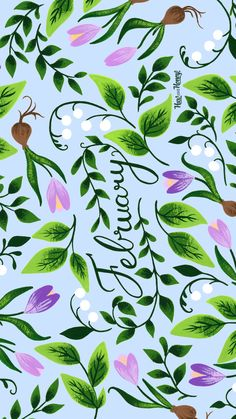 February Calendar, Calendar Wallpaper, Months In A Year, Plant Leaves, Plants, Wallpapers, Wallpaper, Plant, Backgrounds