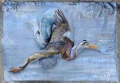Artist Shannon Holt has created a beautiful series of body paintings depicting the snowy egret, great blue heron, alligator, and other Florida wildlife.