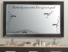 Harry Potter Marauder's Map Decal Kit by GoodMommyLLC on Etsy, $19.99