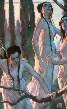 John Watkiss, British (died of cancer at He was active in comic book illustration, adviser to film, author of a book on anatomy and a well trained strong artist in many domaines. Art And Illustration, Illustrations, Figure Painting, Painting & Drawing, Painting Inspiration, Art Inspo, Fine Art, Pretty Art, Figurative Art