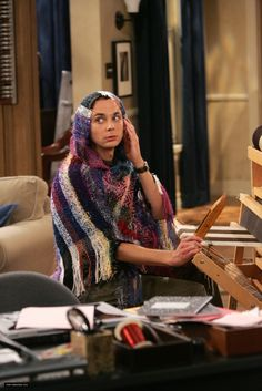 Sheldon and the loom... Two of my favorite things:  Big Bang Theory and weaving