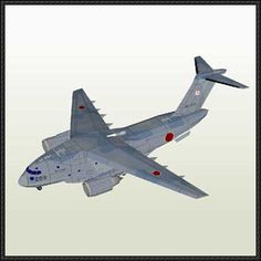 Kawasaki XC-2 Military Transport Aircraft Paper Model Free Download - http://www.papercraftsquare.com/kawasaki-xc-2-military-transport-aircraft-paper-model-free-download.html