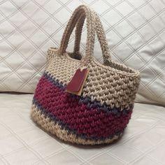Diy Crochet Bag, Crochet Clutch, Crochet Handbags, Crochet Purses, Knit Crochet, Crochet World, Market Bag, Knitted Bags, Handmade Bags