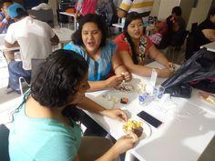 Jenny,  América y Karinita desayunando en el City Express de Tuxtla Gutiérrez