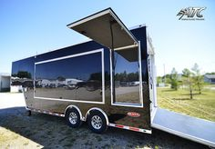 Custom 26 Stacker Trailer With Full Bathroom Fold Down