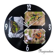 sur commande horloge cadre 3 photos - Boutique www.magicreation.fr
