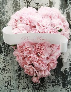pink carnations heart...be mine- use heart shape cake pan...cut carnations...print...table centerpiece or make as  heart wreath