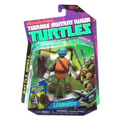 Discontinued b Teenage Mutant Ninja Turtles Battle Shell Leonardo Action Figure