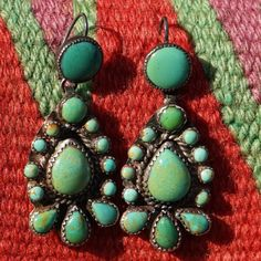 Pouneh Paisley Turquoise Earrings