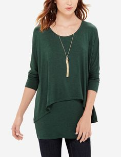 313c5e334bb Layered Tunic Top - A relaxed drape works with irresistible comfort. Wear  this casual top