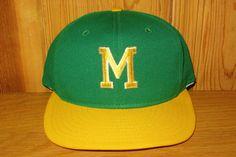 Letter M Vintage 80s Rare Official Licensed AJD Snapback Hats 3452d1b6ff56