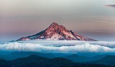 Mount Hood Over Clouds, Oregon