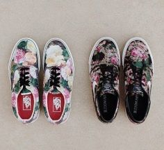 2ad49c3d58 shoes vans flowers nike indie hippie hipster grunge girly tomboy skater  floral omf adidas foral supreme summer summer shoes nike sneakers sneakers  roses ...