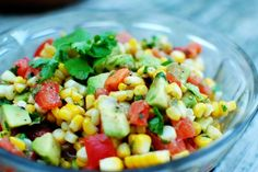 Grilled Corn and Avocado Salad with Honey Lime Dressing More