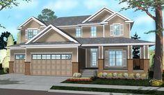 Two-Story Home with Flex Space - 62519DJ | 2nd Floor Master Suite, Butler Walk-in Pantry, CAD Available, Den-Office-Library-Study, Northwest, PDF, Traditional | Architectural Designs