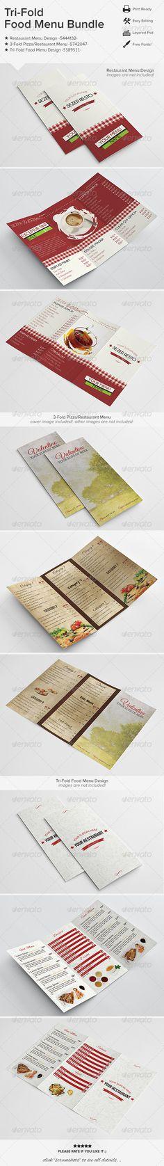 TriFold Restaurant Food Menu Template  Food Menu Template Menu