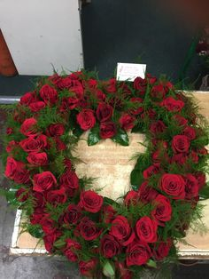 Send RED ROSES HEART FOR SYMPATHY in San Juan Capistrano, CA from Mother Earth Florist, the best florist in San Juan Capistrano. Winter Flower Arrangements, Red Rose Arrangements, Funeral Floral Arrangements, Flower Centerpieces, Funeral Spray Flowers, Funeral Sprays, Casket Flowers, Grave Decorations, Memorial Flowers