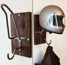 Helmet and jacket holder
