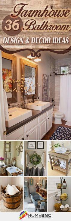 Farmhouse Bathroom Decor Ideas…  http://www.nicehomedecor.site/2017/07/30/farmhouse-bathroom-decor-ideas-2/