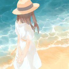Art Anime, Anime Art Girl, Manga Art, Pretty Art, Cute Art, Aesthetic Art, Aesthetic Anime, Anime Angel, Anime Scenery