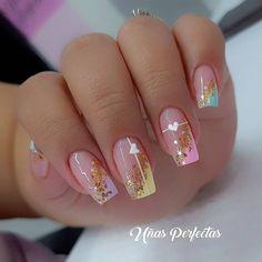 Cute Nails, Pretty Nails, Nail Salon Design, Nail Art Hacks, Natural Nails, Pedicure, Gel Nails, Beauty Hacks, Nail Designs