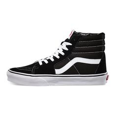 Sk8-Hi Slim ($60) ❤ liked on Polyvore featuring shoes, sneakers, vans, high top shoes, vans shoes, vans sneakers, laced sneakers and laced shoes
