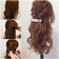 braid hairstyles for school Mom Braided Hairstyles For School, Going Out Hairstyles, Bun Hairstyles, Pretty Hairstyles, Wedding Hairstyles, Korean Hairstyles, Hairdos For Older Women, Medium Hair Styles, Curly Hair Styles