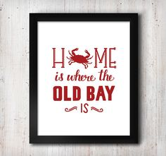 Crab Home Print  Hand-lettered 5 x 7 Print  by CalligraphyKitchen