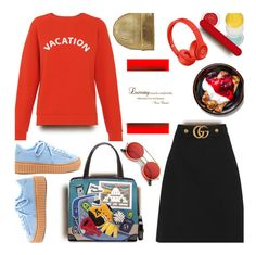 """""""🎀 #621 .."""" by wonderful-paradisaical ❤ liked on Polyvore featuring Gucci, Tua, ZeroUV, Clinique, Chanel, rms beauty, trending, polyvoreeditorial and topfashionproducts"""