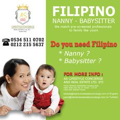 Istanbul Filipino Maids by AS Lifestyle Concierge and Real Estate Ltd. Sti.: Offering Filipino Nanny - Babysitter