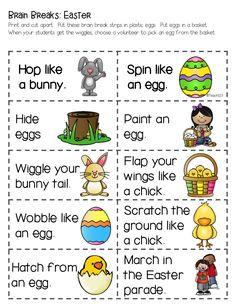 Brain Breaks with an Easter Twist plus FREE printable.