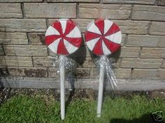 Christmas Outdoor Yard Decoration Peppermint Lollipops