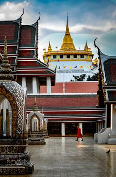 Wat Saket, Bangkok, Thailand Bangkok Thailand, Big Ben, Taj Mahal, Explore, Building, Travel, Places, Viajes, Buildings