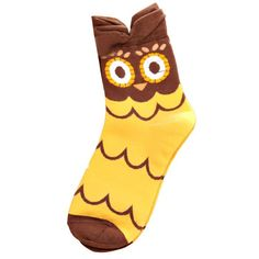 """Cute, little owl design. Made out of cotton and microfibre, your little girl will LOVE our """"Hoo hoo"""" Socks."""