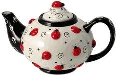 Lots of Ladybugs Teapot - 46oz http://www.englishteastore.com/teapot-lots-ladybugs-46oz.html