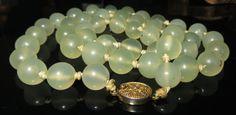 Antique pale green translucent CELADON JADE by BYGONEDAYSTreasures