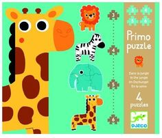Djeco First Puzzle Set Jungle Animals 2+ - £8.99 - A great range of Djeco First Puzzle Set Jungle Animals 2 - FREE Delivery over £25!